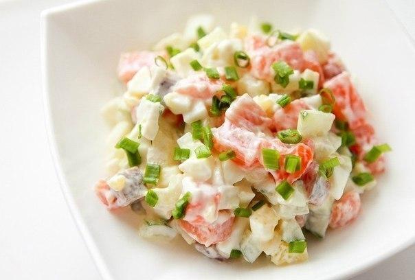 Рецепты салатов с рыбой семгой с фото
